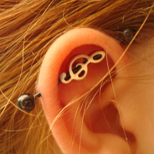 Treble Clef Industrial Barbell Set