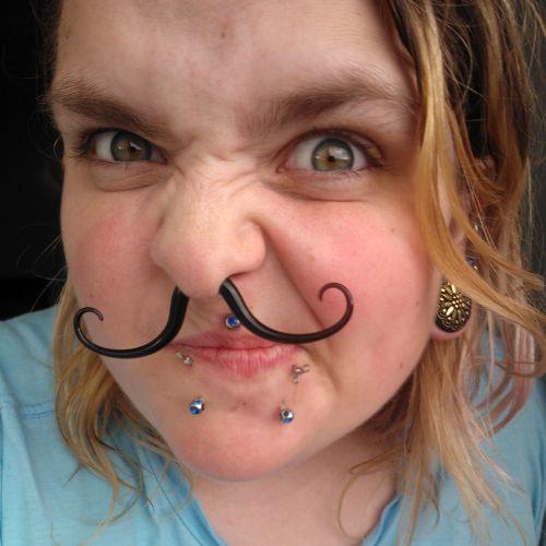 Pyrex Glass Septum Mustache Foppish