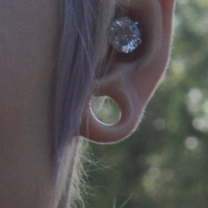 "Silicone earskin (Clear) 00g/9mm  (1/4"" wearable)"