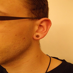 "Silicone earskin (Clear) 0g  (1/4"" wearable)"