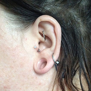 "Silicone earskin (Clear) 9/16""  (5/16"" wearable)"