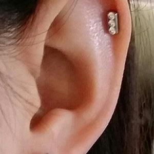 PRE-ORDER Titanium princess earring 20g  4mm gem