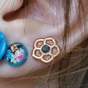 Silicone flower o-ring 12g  Metallic copper