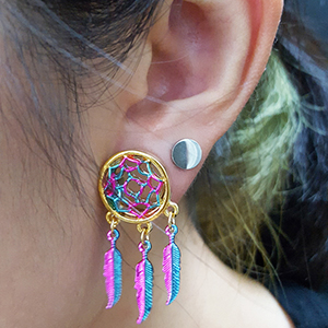 """Gold colored dream catcher eyelet 1/2""""  13mm"""