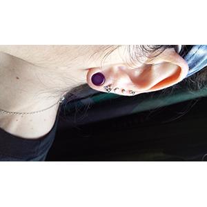 Single flare merlot colorfront pyrex plug  2g  6mm (pair)