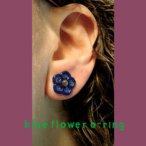 Silicone flower o-ring 16g  Cobalt