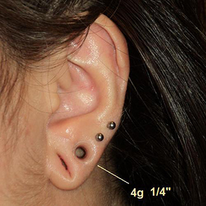 "Silicone earskin (Clear) 4g  (1/4"" wearable)"