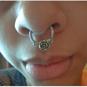 "Steel rose captive 14g 1/2""  -- Photo # 65413"