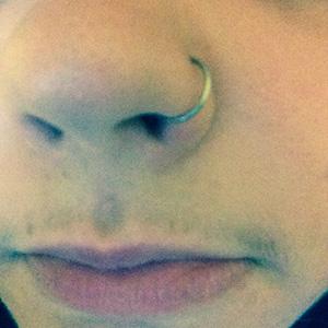 "Nose Hoop 20g 5/16"" dia."