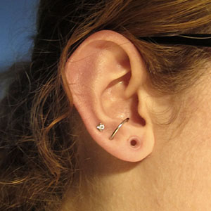"Silicone earskin (Clear) 6g  (5/16"" wearable)"
