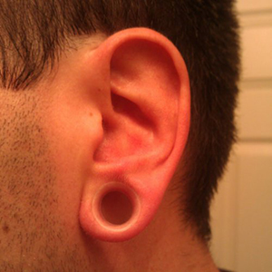 "Silicone earskin (Clear) 1/2""  (1/4"" wearable)"