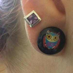 Single flare owl plug 12mm