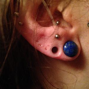 "Silicone earskin (Clear) 4g  (5/16"" wearable)"