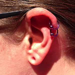 "Titanium captive bead ring 16g 3/8"" Purple -- Photo # 61438"