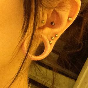 """Silicone earskin (Clear) 3/4""""  (5/16"""" wearable)"""