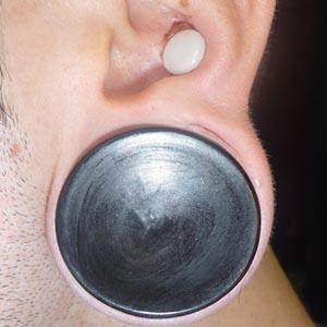 """Black horn concave plugs 1-1/2""""  (pair)"""
