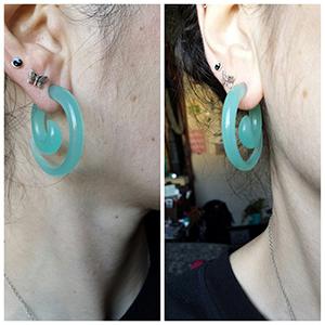 Mint opalite spirals 2g  (pair)