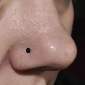 Bioplast nosebone 18g  Black