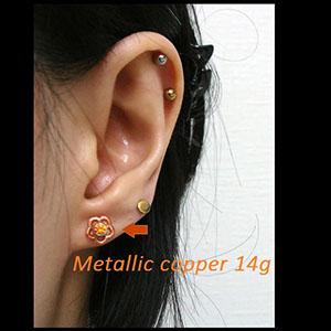 Silicone flower o-ring 14g  Metallic copper