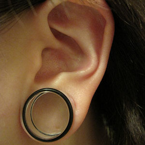 "Silicone earskin (Clear) 00g/9mm  (5/16"" wearable)"