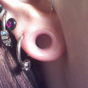 "Silicone earskin (Clear) 3/4""  (5/16"" wearable)"