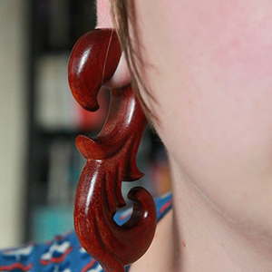 "Bloodwood French Swan design 3/4""  (pair)"