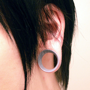 "Silicone earskin (Clear) 1/2""  (3/8"" wearable)"