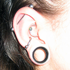 "Silicone earskin (Clear) 5/8""  (1/4"" wearable)"