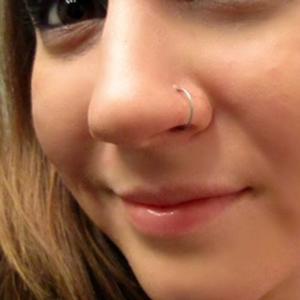 "Nose Hoop 20g 3/8"" dia."