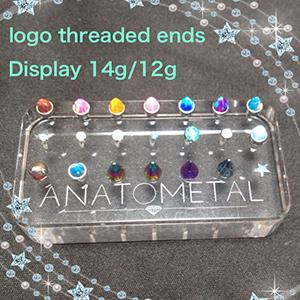PRE-ORDER Anatometal logo threaded ends display 14g/12g  Display