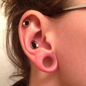 "Silicone earskin (Clear) 1/2""  (5/16"" wearable)"