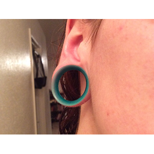 "Silicone earskin (Emerald)  1"" 5/16"" wearable"