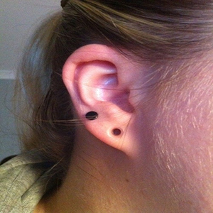 "Silicone earskin (Clear) 6g  (1/4"" wearable)"