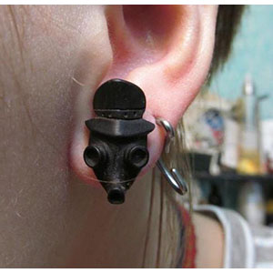Arang wood gas mask plugs 00g/9.5mm  (pair)