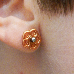 Silicone flower o-ring 10g  Metallic copper