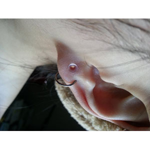 "Silicone earskin (Clear) 10g  (5/16"" wearable)"