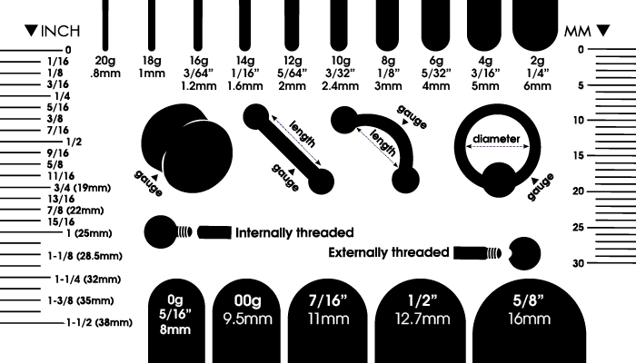 Body Jewelry Measurement Guide
